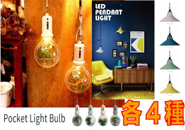 LED  PENDANT LIGHT&Pocket Light Bulb アソート